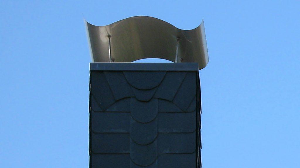 Kaminhaube aus Edelstahl - Napoleonhut
