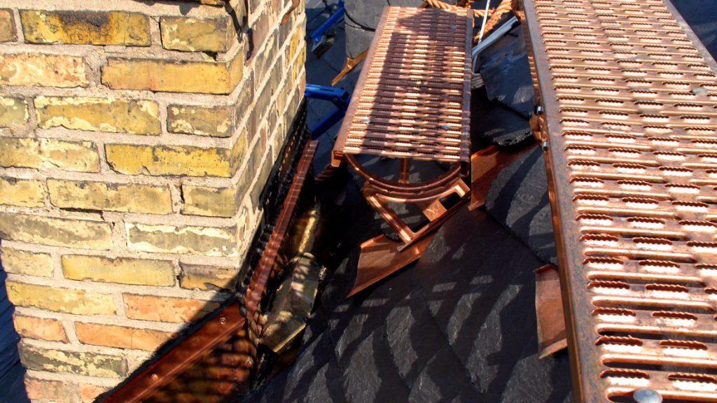 Laufrost und Dachtritt aus Kupfer