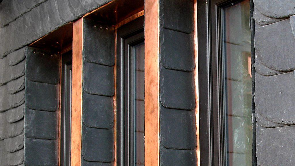 Fenstereinfassungen aus Kupfer