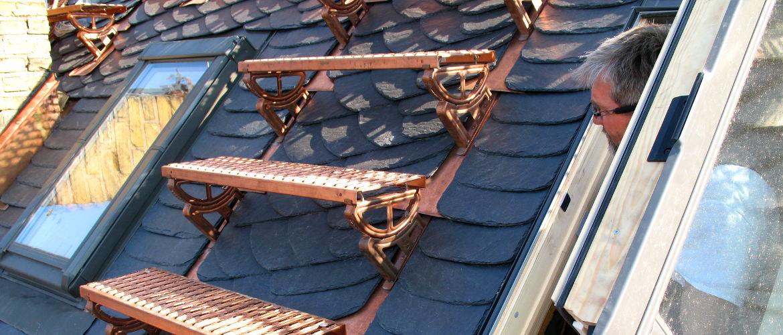 Laufroste, Dachtritte und Dachhaken