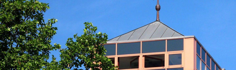 Montage einer Wetterfahne - Bürogebäude im Main-Taunus-Kreis