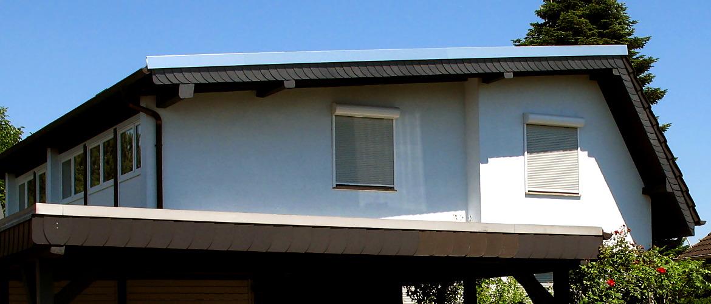Eindeckung eines Pultdaches und Spenglerarbeiten - Wohnhaus in Mainz