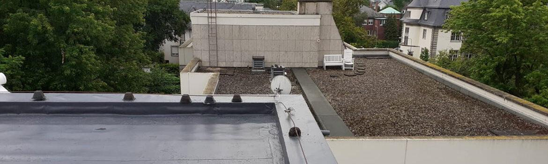 Dachabdichtung eines Aufzugschachtes/Treppenhaus - Max Vogel